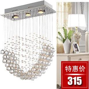 Modern pendant crystal lamp heart k9 crystal pendant light lighting sd1071-3