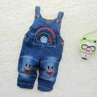 Retails(75-95cm) Children kids Baby Jean Rompers,suspenders Jean trousers / Pants for  Boys girls Jumpers & Overalls