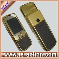 8800 gold arte brown leather  mobile phone