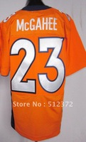 Free Shipping!!! 2012 new style jersey #23 Willis McGahee 2012 new orange jersey