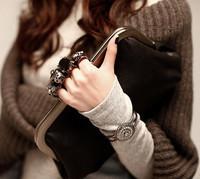 Very Popular!! 2012 Fashion women's handbag skull ring bag clutch evening bag