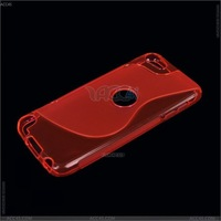 S-Type TPU Case Cover with hole  For   the New iPod Touch 5 ,P-iPODTCH5TPU002