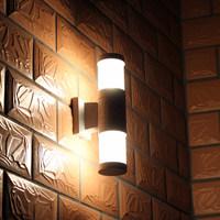 Outdoor lamp wall lamp brief double slider waterproof modern led garden light exterior lights