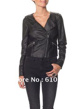 Free Shipping New Arrival Super Explosion Locomotive Female Leather Jacket Fashion Short Jacket Leather Coat
