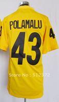 Free Shipping!!! 2012 new style jersey #43 Troy Polamalu 2012 new yellow jersey