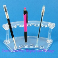 Free Shipping 4 Clear View Pen Cosmetic Brush Display Stand Holder For 6 Pcs AF-48