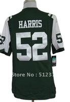 Free Shipping!!! 2012 new style jersey #52 David Harris 2012 new green jersey
