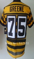 Free Shipping!!! 2012 new style jersey #75 Joe Greene 2012 new throwback 80th yellow black jersey