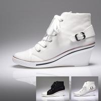 2012 women's shoes wedges canvas shoes female elevator shoes shoes