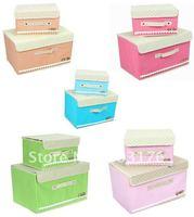 Free Shipping 5pcs/lot Floding Clothes Storage Box Non-Wowen Apparel Organizer Case Cover Multi Color Garment Arrange Bag
