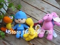 Wholesale NWT  4 pcs POCOYO& FRIENDS BANDAI  PLUSH ~Pocoyo Elly Pato Loula~ 4 Dolls FREE SHIPPING