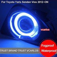 High Quality Angel Eyes Toyota Yaris Sedan Vios fog lamp 2012 With Plating