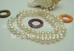 "Ftime Jewelry --- Wholesale 3Pcs/Lot, 18"" White Pearl Necalace(China (Mainland))"