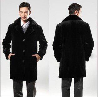 2013 winter coat Imitation warm pilot mink leather coat men fur jacket big size clothing men's leather motorcycle jacket FFM001