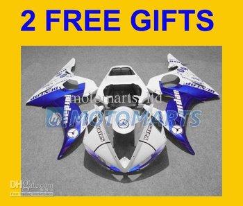 2 Gifts+blue JORDAN white ABS fairing for YZF R6 03-05 YZF-R6 2003 2004 2005 YZFR6 03 04 05 YH11