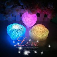 Heart rose light heart colorful change color night light