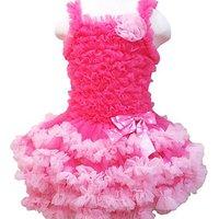 free shipping,Pettiskirts Dresses Set,one-piece-pettiskirt,chiffon-tutu-girl-dress,ball gown dress set(TOP+skirt)