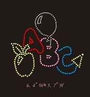 Tshirt rhinestone transfers design beautiful letters ABC,MOQ(30pcs each design) is acceptable,free shipping via DHl