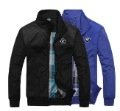 men brand BMW casual sport jacket two-way outerwear reversible garment coats