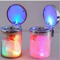 LED Portable Car Cigarette Ash Ashtray Holder