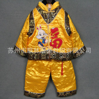 Child tang suit wadded jacket rabbit wadded jacket baby tang suit