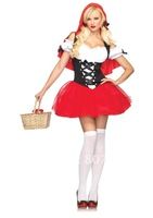 Holiday sales FREE shipping Sexy Racy Little Red Riding Hood Dress n Cape Outfit Adult Halloween Costume NEW