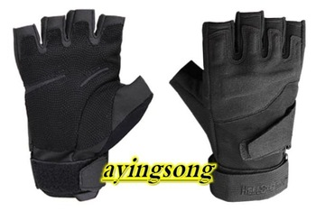 cycling gloves Man Blackhawk Half finger gloves / Military army police Safety Gloves / Speed dry Anti-Slippery,  free ship