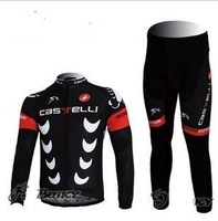 Wholesale - New Arrival  CASTELLI  Team  clothing Wear Cycling  bike Long Sleeve  Jersey +  pants suit SIZE:S,M,L,XL,XXL,XXXL