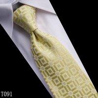 free shipping! Grid Silk beautiful Woven Man Tie Necktie, 1 pcs