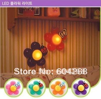 5Pcs/Lot FREE SHIPPING,hot sale Creative- flowers pat night lights/lamp/lighting, table wall light, children gift