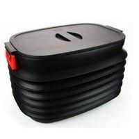 Free shipping+Car magic retractable glove box folding bucket auto glove box lookaside storage box trash bucket 37l