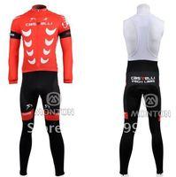Fast Shipping High Quality Selling 2010 Castelli Winter Fleece Cycling Jersey+Bib Pant Set/Bicycle Wear/Biking Jersey/Cycle Pant