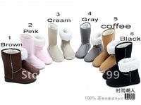 Женские ботинки Winter Woolen Lace Up Women Ladies Girls Snow Boots Shoes Warm