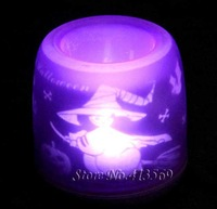 LED Candle Electronic Flameless Light Lighting Projection for Halloween with Voice Sound Control