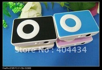 20pcs/lot  circle button minu MP3 player with TF card slot for micro sd card   mp3 player+crystal box +earphone+usb cable