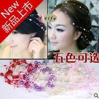 Wholesale Free Shipping! Handmade pearl chain Bridal hair accessories/ Bridal hair pin/ wedding Hair accessory ,SW021