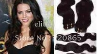 """body weave human hair weft hair extension color #1b off black 14""""-22"""" 100g/pc 3pcs   14 inch    3 Piece  /  Lot"""