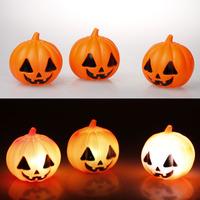 Halloween supplies props Christmas supplies bar decoration colorful led pumpkin small night light