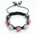 Fashion Jewelry Child Kids Baby Children Shamballa Bracelet New Tresor Paris Allure CZ Disco Ball Bead L45