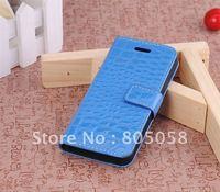 Luxury Crocodile leather print trellis case for iphone 5 5G 10pcs/lot Free shipping