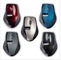 Free shipping Brand New 2.4GHz Rapoo 3200 Ergonomic USB Wireless Laser PC Mouse Optical Mini Adapter bluetooth