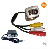 Free shipping 208c Wired Mini Color Day Night 6 IR LED CCTV Camera