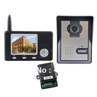 2.4GHz Wireless 3.5inch Color Video Door Phone Intercom Home Security Doorbell Wholesale,Free Shipping,#170040