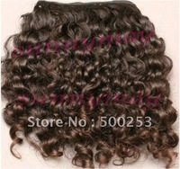 Sunnymay Curly Virgin Malaysian curly Human Hair Extension weave Natural Color Hair Weft 100g