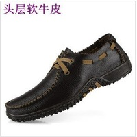 2014 new arrival real freeshipping medium(b,m) lace-up pvc free shipping!commercial daily casual plus size men shoes!hot sale