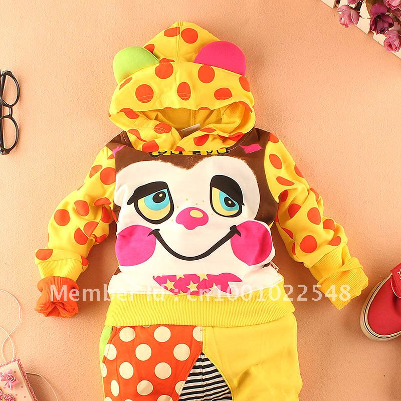 2012 autumn jian color block ear children's clothing male female child with a hood outerwear top a1617(China (Mainland))