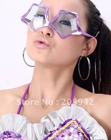 Best selling!! Five-pointed star glasses mask toy Dance performances glasses flash toys Free shipping,3pcs/lot