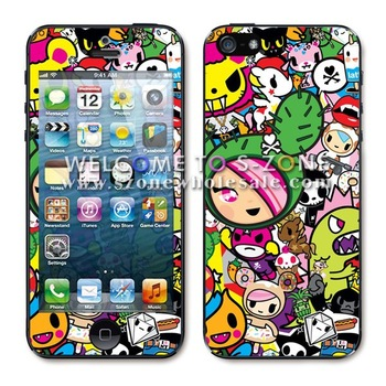 free shipping for iPhone5 stickers  for iphone5 skins