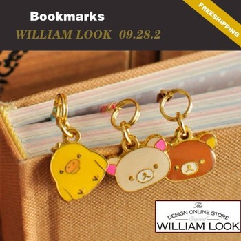 Min.order is $25 (mix order)stationery cute Bear Pendants bookmark diary book notebook memopad bookmarks promotion gift MMA09282