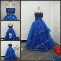 Princess 100% Custom Made Royal Blue Sweetheart Ball Gown Sweet 16 Girl Dresses Quinceanera Dress